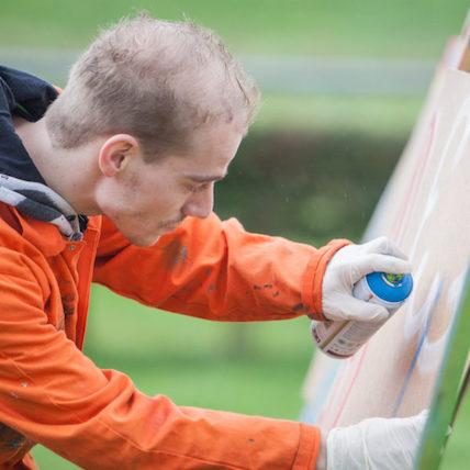 workshop graffiti spuiten